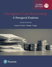 ksiazka tytuł: Horngren's Cost Accounting: A Managerial Emphasis autor: Rajan Madhav, Datar Srikant